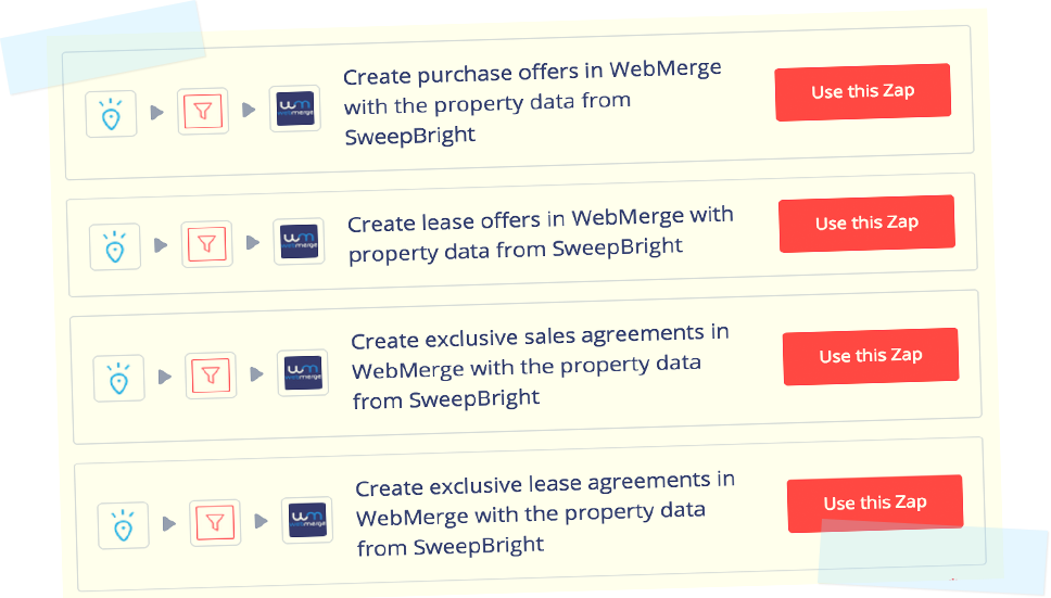 SweepBright and WebMerge: streamline your real estate document management